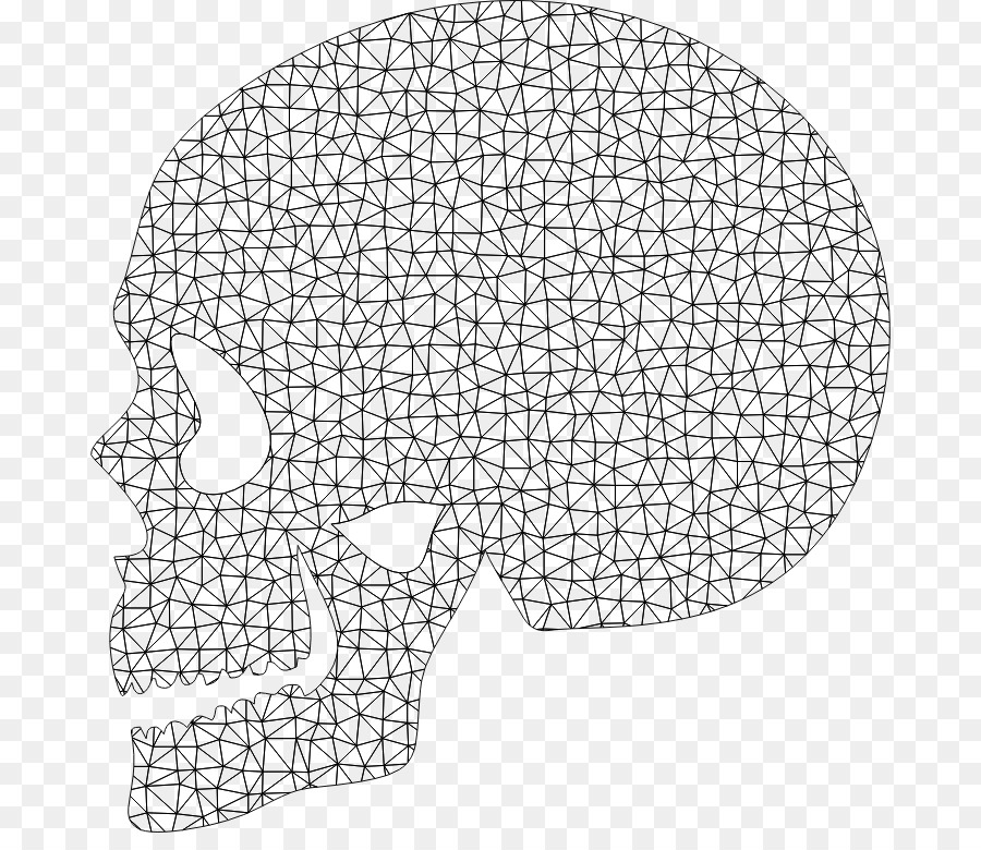 Website wireframe Skull Polygon Brain - low poly png download - 734 ...