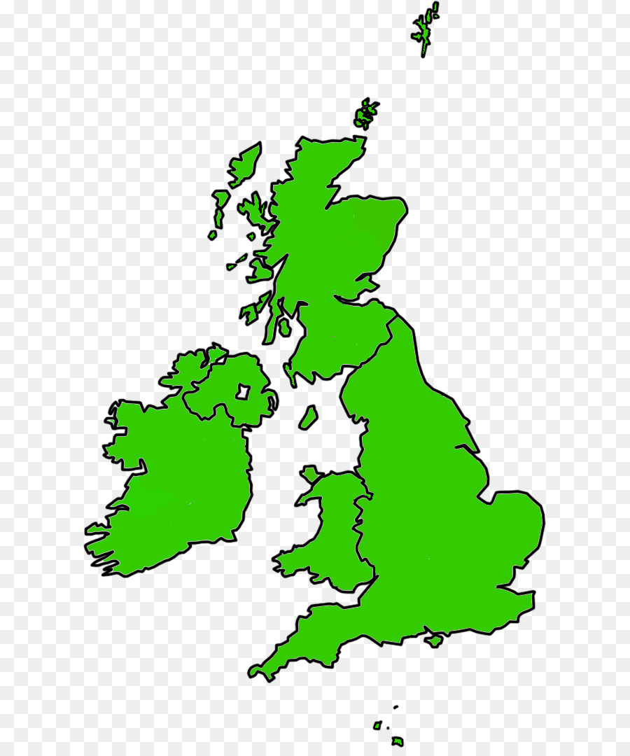 Northern Ireland England British Isles Blank map - England png ...