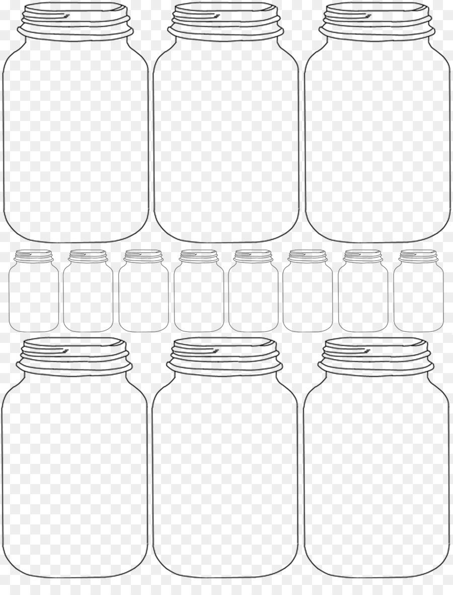 Paper Mason jar Gift Template - mason jar png download - 1236*1600 ...