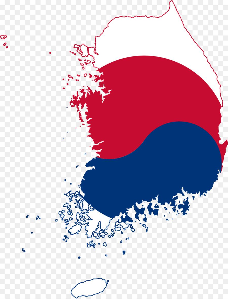 Flag of South Korea North Korea World map - korean png download ...