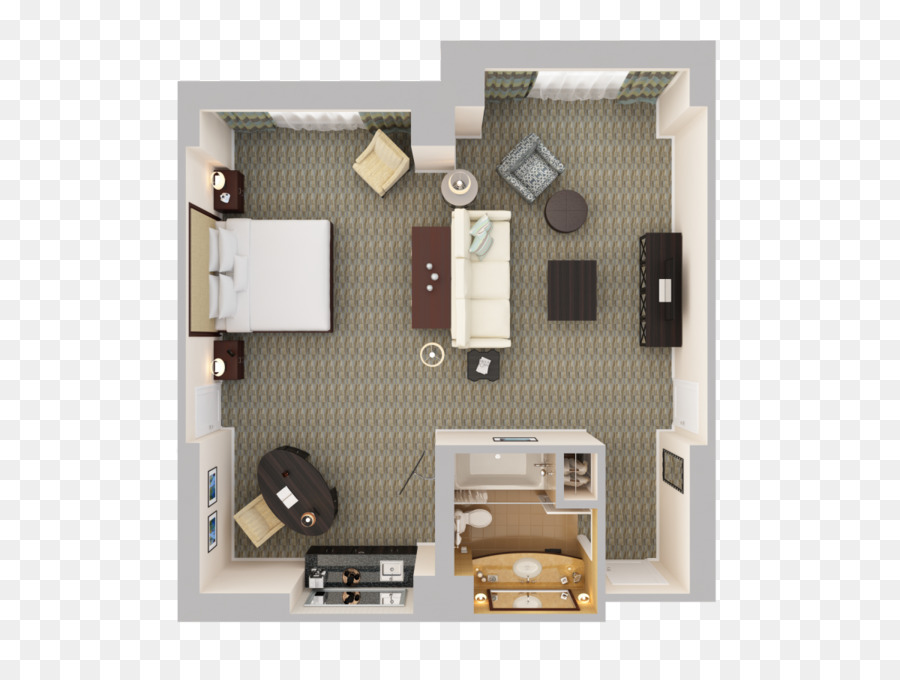 Suite Sofa Bed Bedroom Couch Bed Top View Png Download