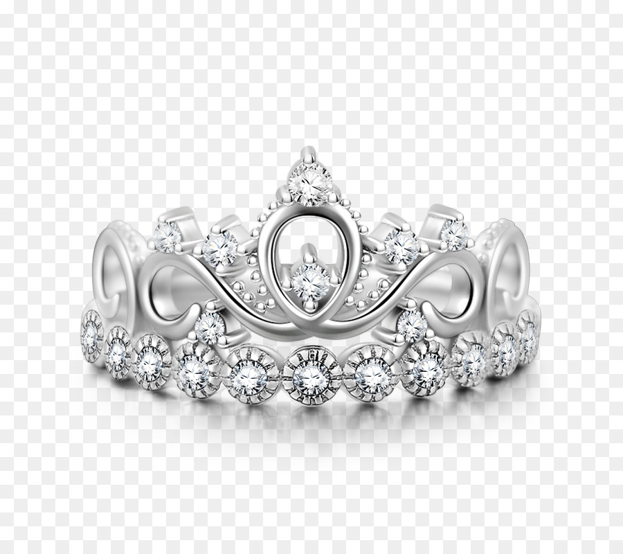 Earring Silver Jewellery Crown Silver Crown Png Download