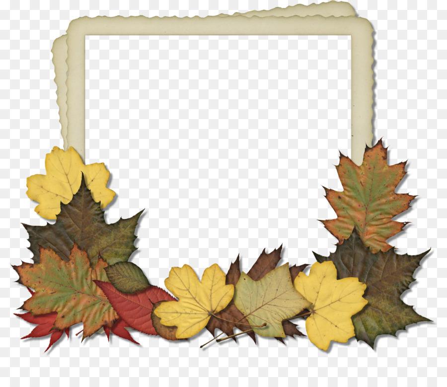 Picture Frames Autumn Scrapbooking Clip art - leaf frame png ...