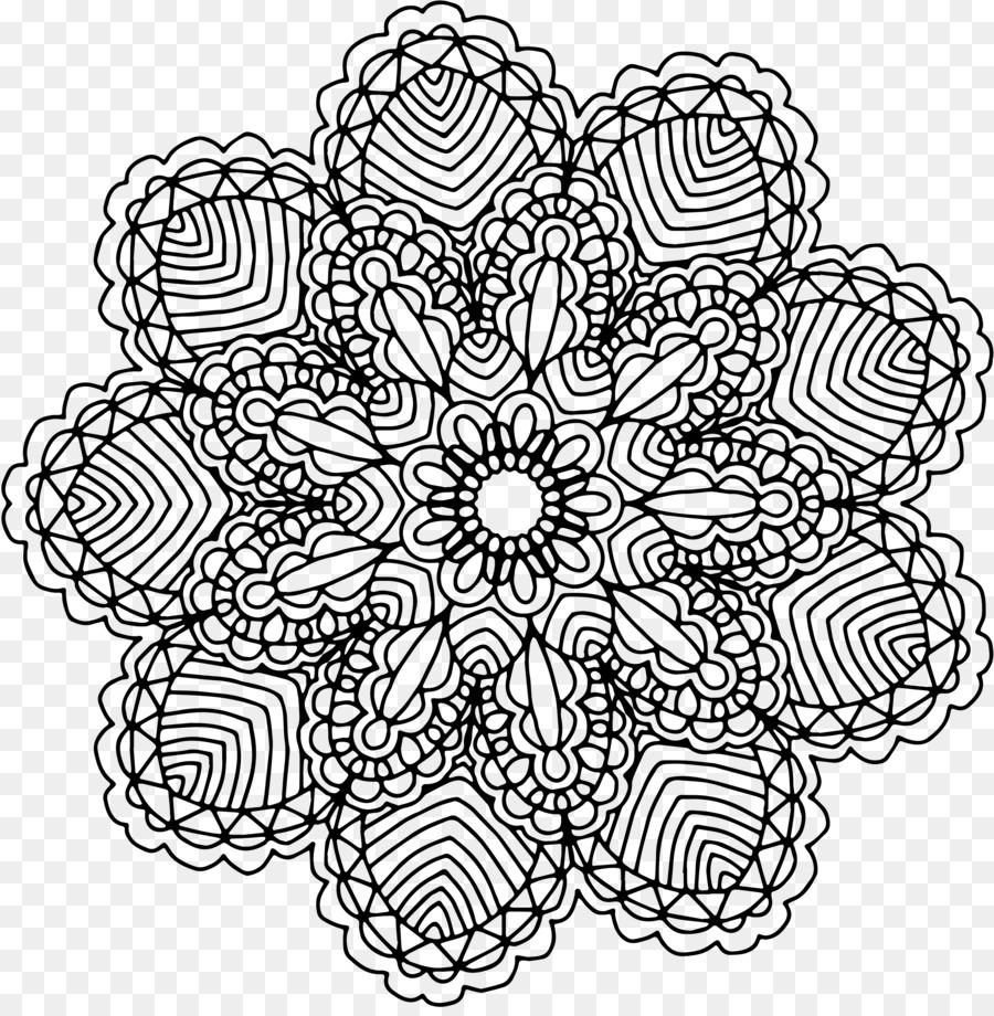 Mandala Coloring Book Drawing Clip Art Mandala Png Download 3600