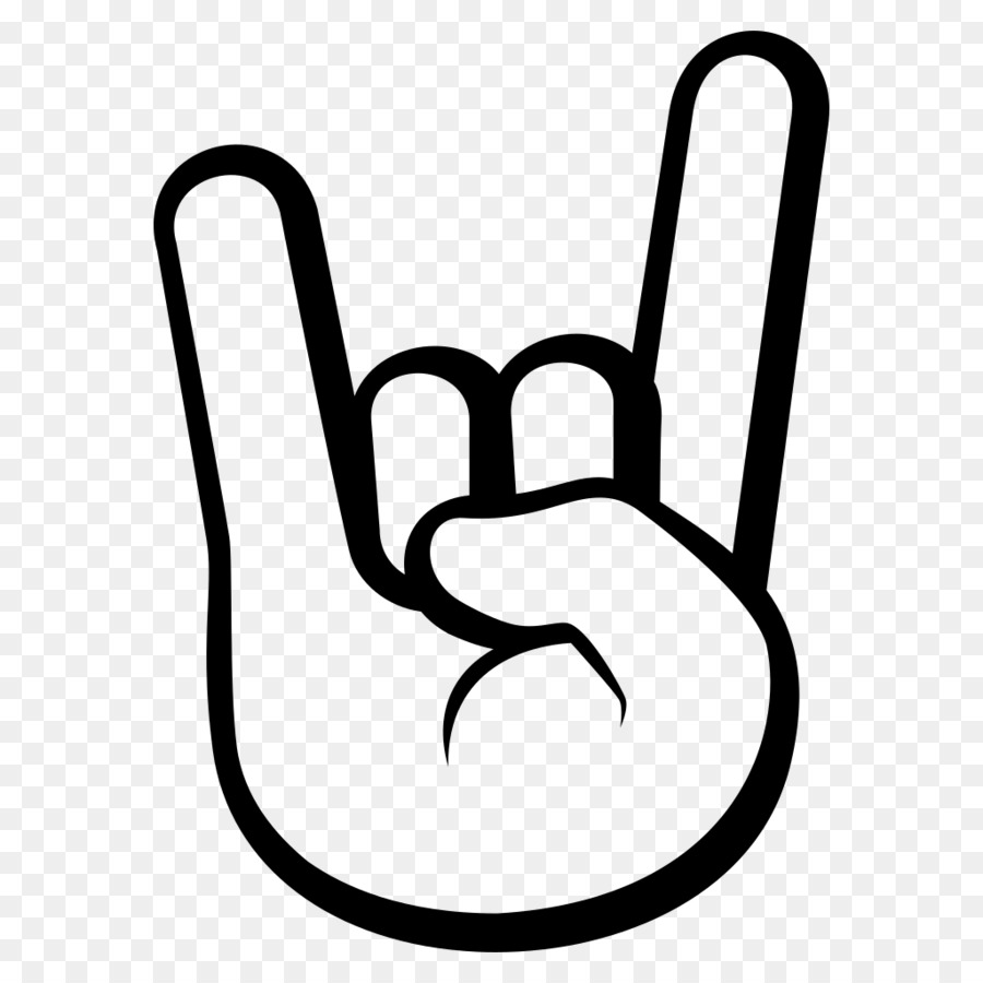 Emoji Sign Of The Horns Emoticon Symbol Rock N Roll Png Download