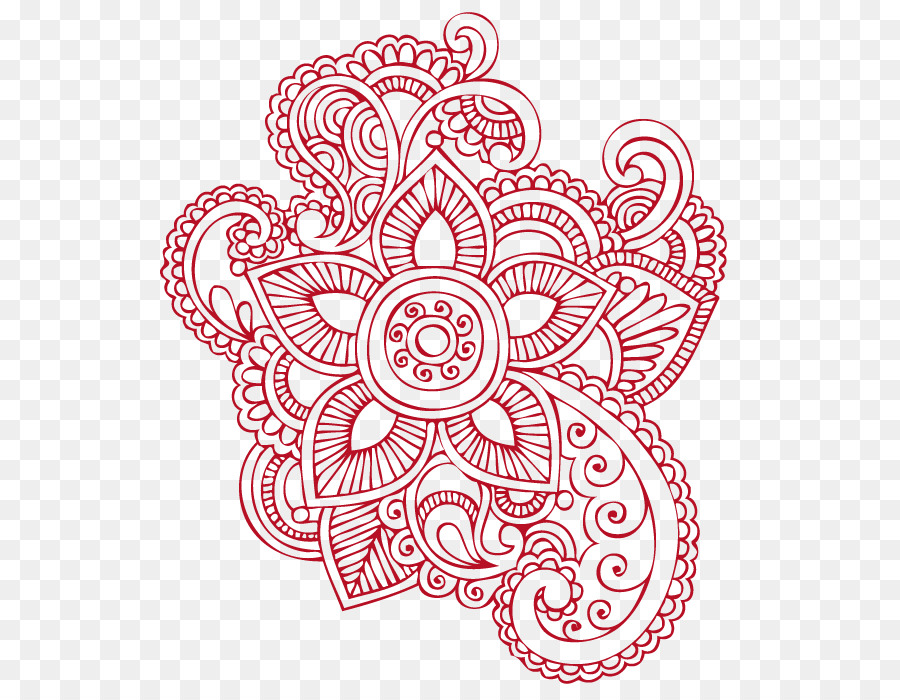 Tattoo Mehndi Paisley Henna Henna Png Download 658 687 Free