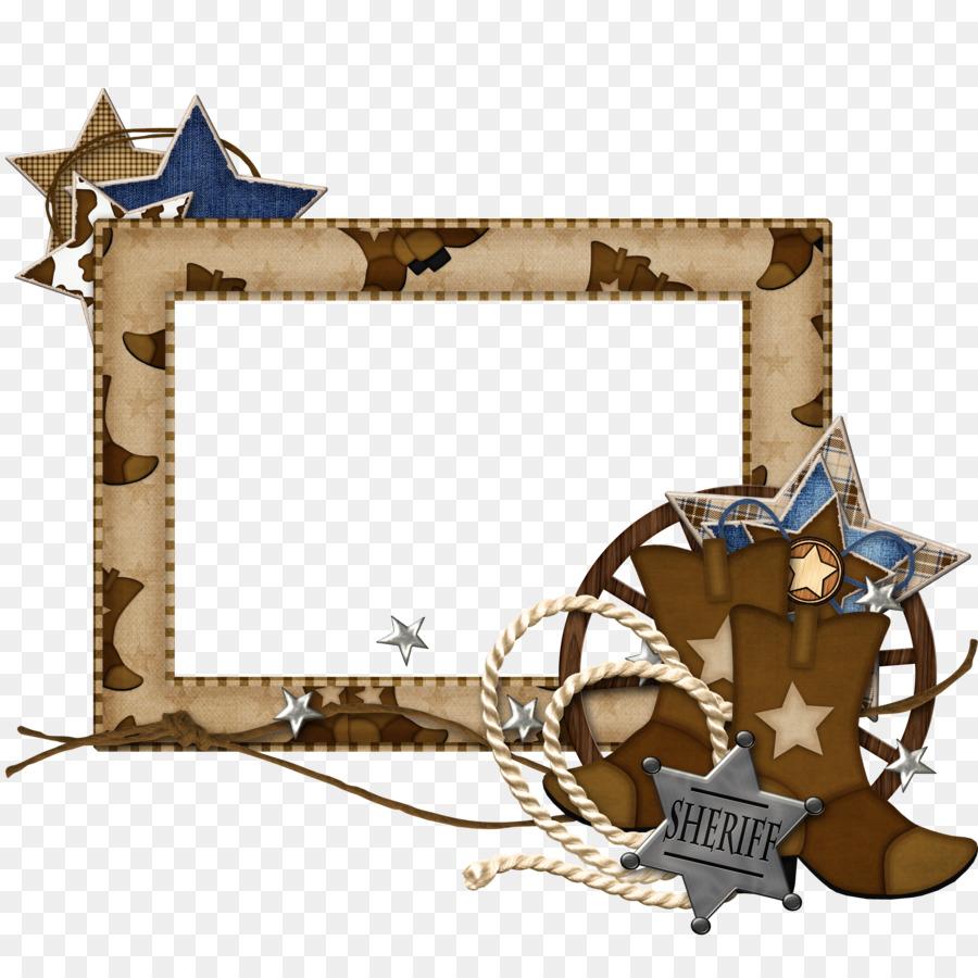 Picture Frames Cowboy Vaquero Cuadro Clip art - western png download ...
