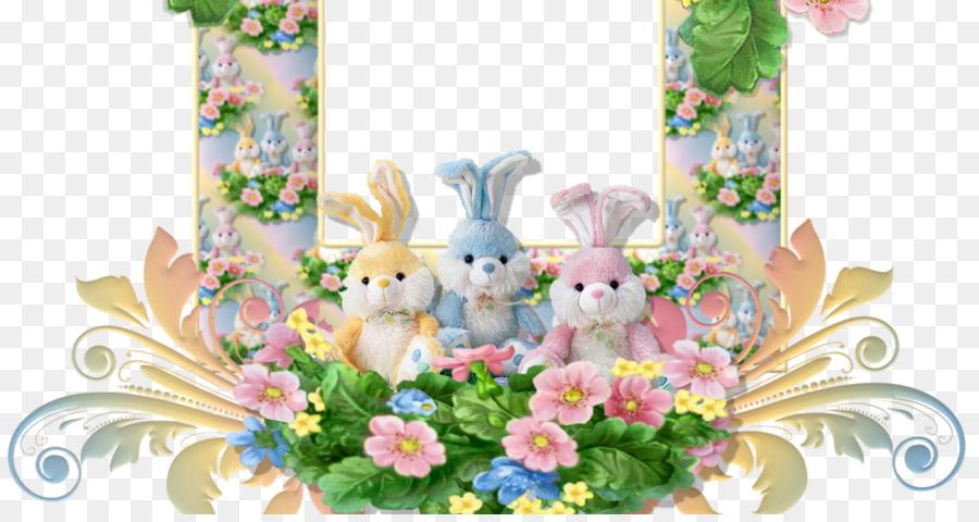Easter Bunny Easter egg - easter frame png download - 1200*630 ...