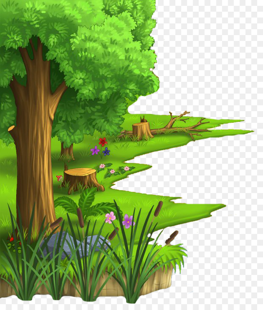 cartoon animation desktop wallpaper village - jungle png download