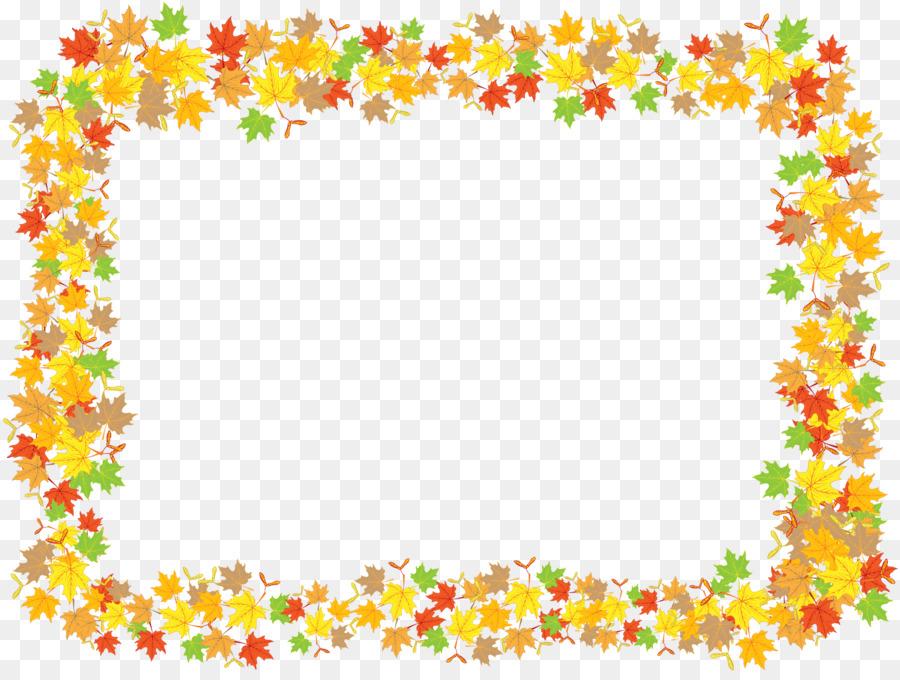 Maple leaf Bilderrahmen Clip-art - Blatt Rahmen png herunterladen ...