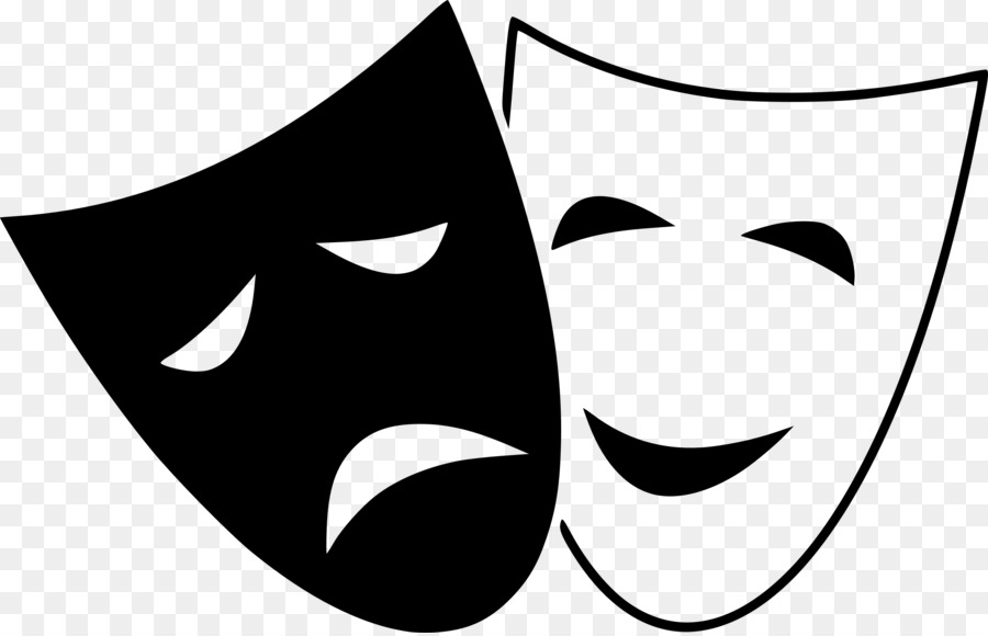 tragedy mask theatre comedy clip art theater png download 2400 rh kisspng com free clipart comedy tragedy masks free comedy clipart