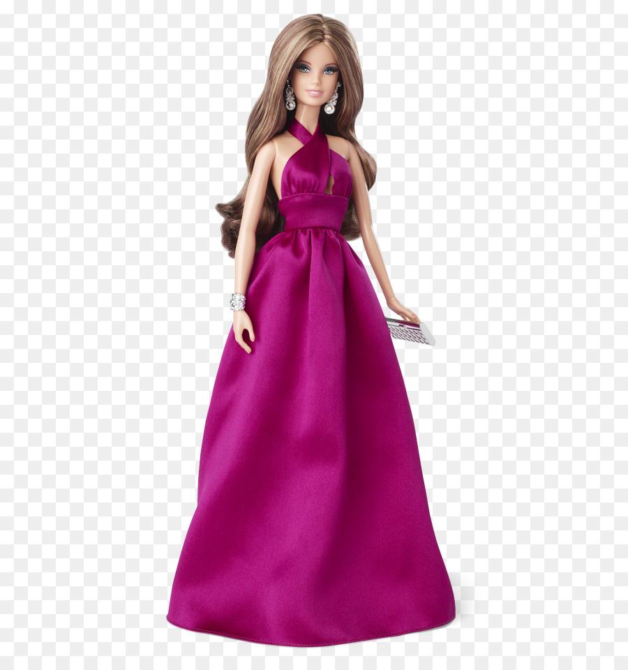 Muñeca Barbie Vestido de alfombra Roja Vestido de - barbie doll png ...
