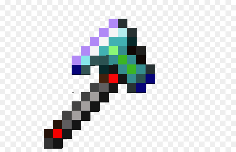 Minecraft Pickaxe Diamond Clip Art Paper Craft Png Download 566