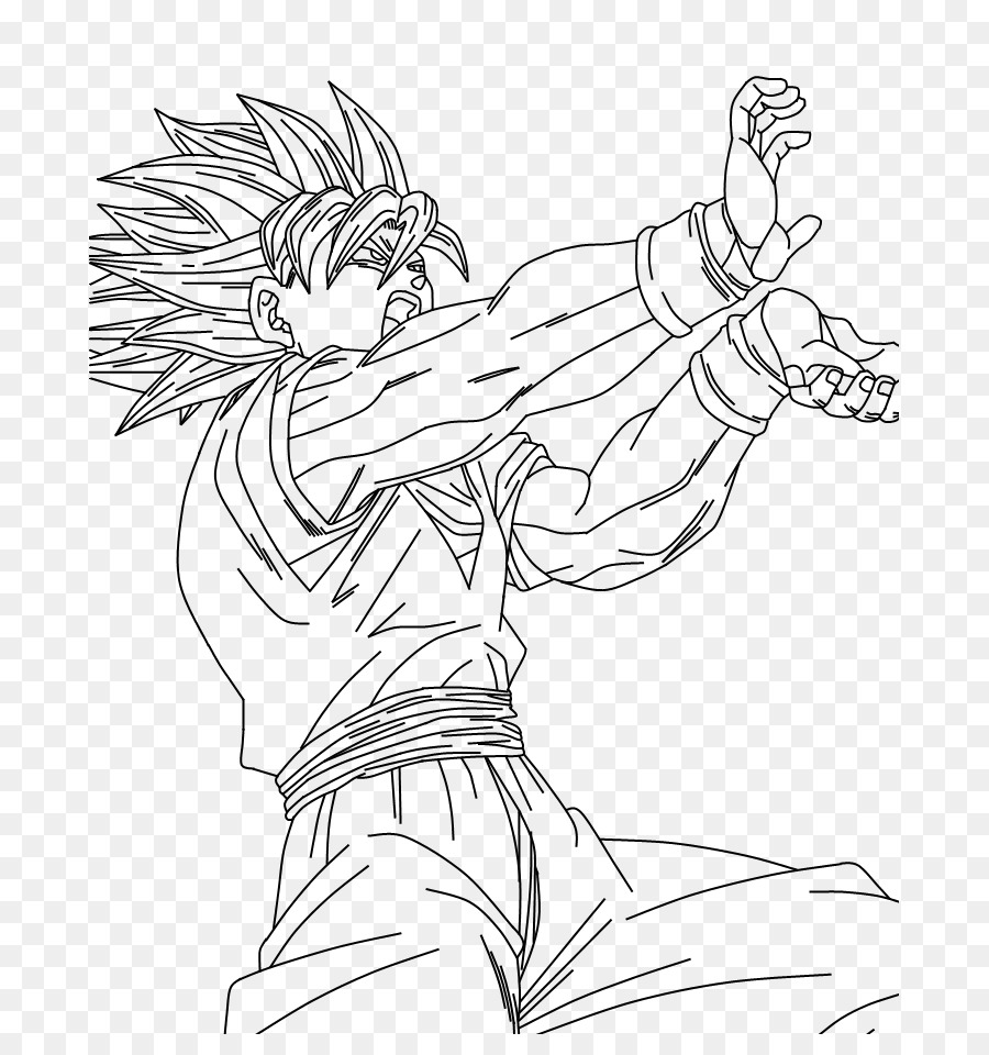 Goku Vegeta Majin Buu Trunks Gohan - para colorear Formatos De ...