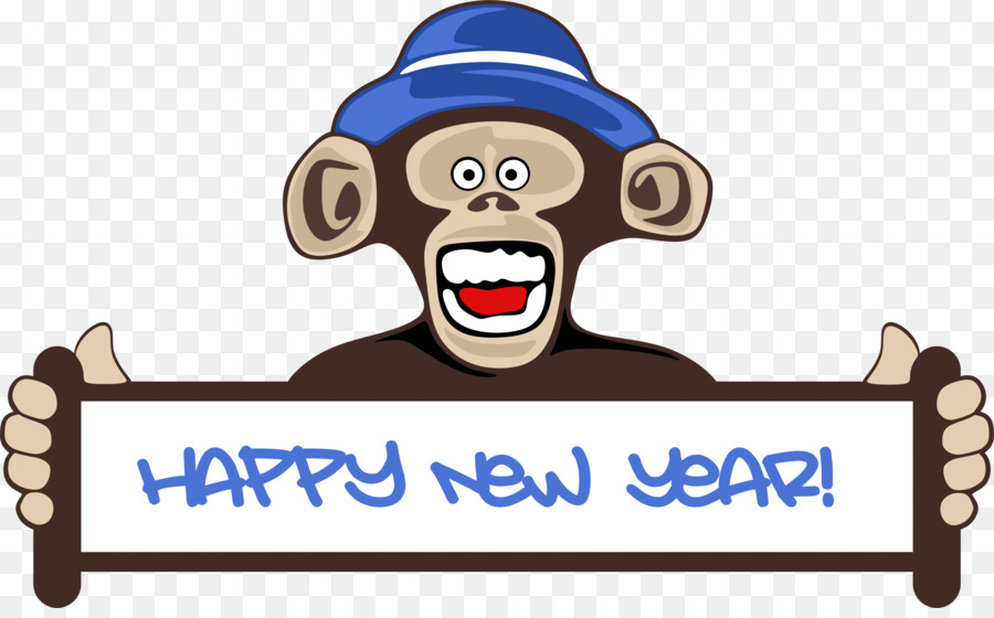 new years day chinese new year monkey clip art happy new year