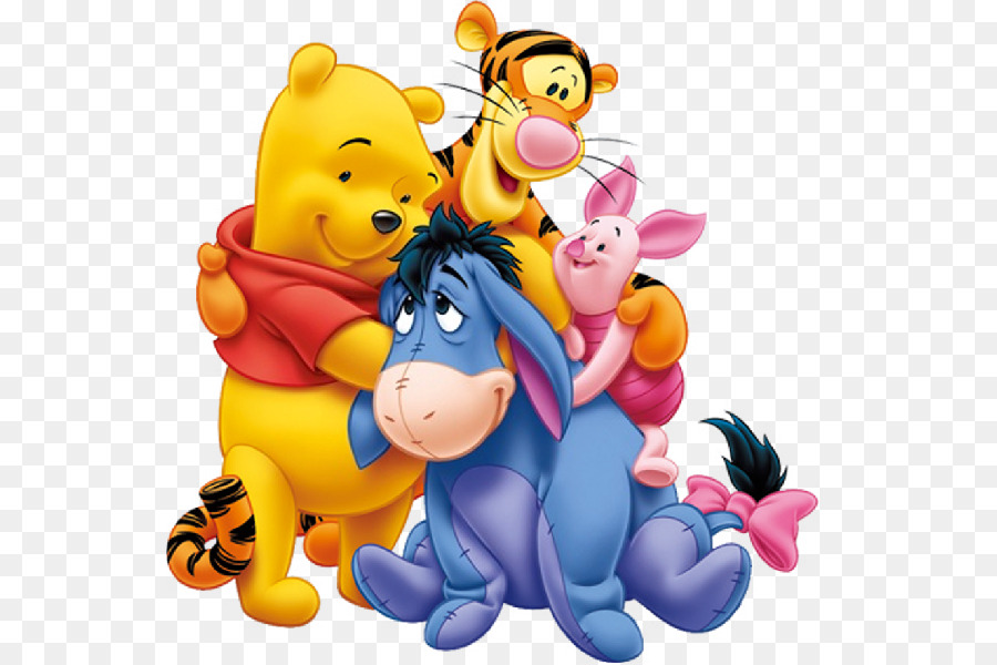 winnie the pooh piglet eeyore roo tigger eeyore png download 600