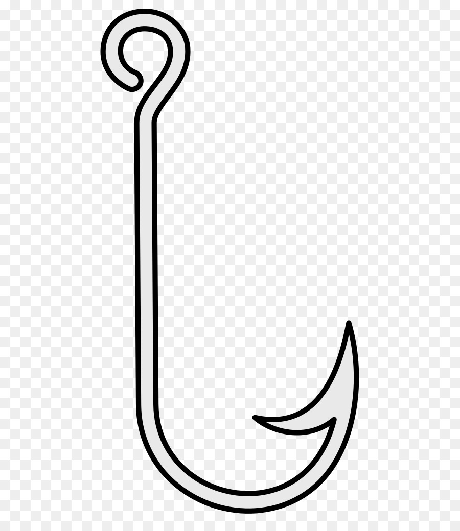 This is a graphic of Clean Fishing Hook Drawing
