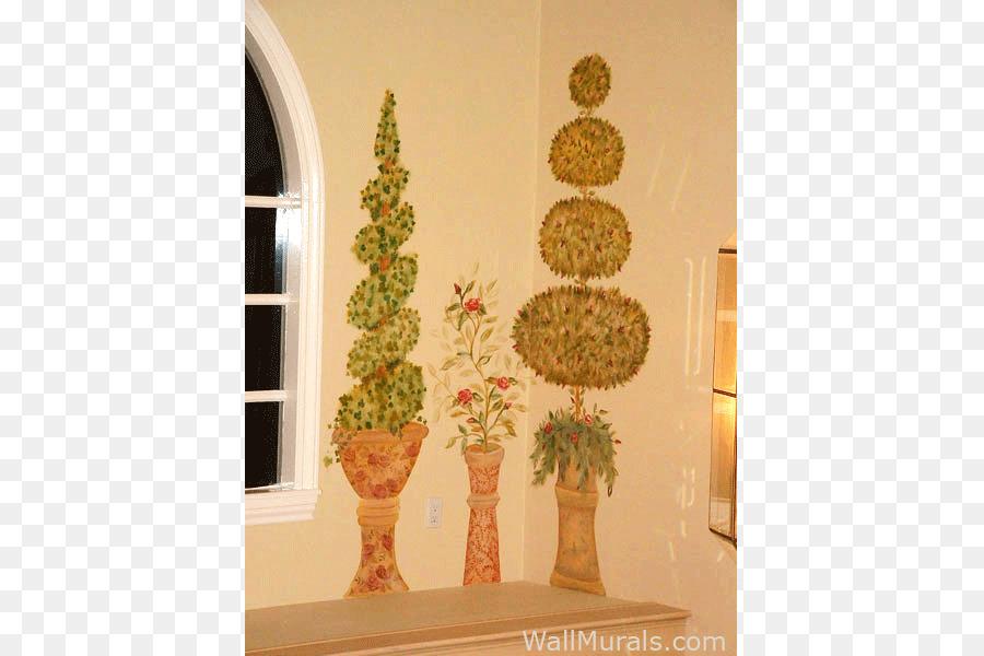 Mural Topiary Painting Wall Living room - mural png download - 800 ...