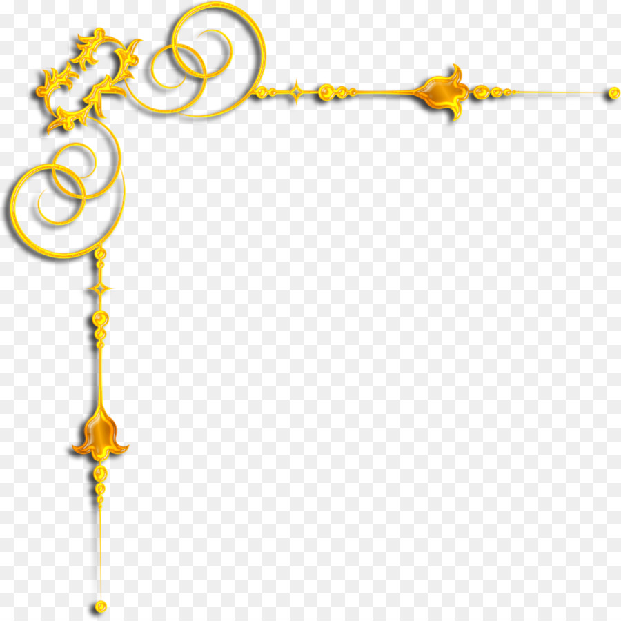 Picture Frames Text Ornament Photography - gold corner png download ...