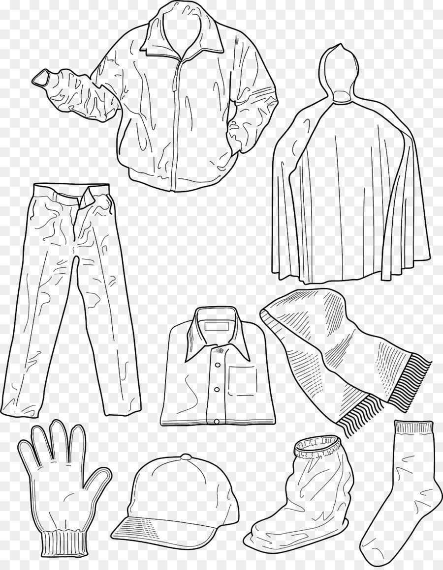 T Shirt Winter Clothing Coloring Book Childrens Clothing