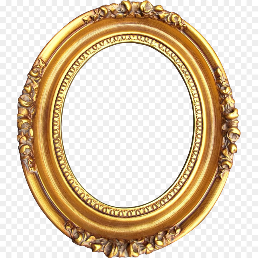 Picture Frames Levkas Gold Wood Oval - oval png download - 1924*1924 ...