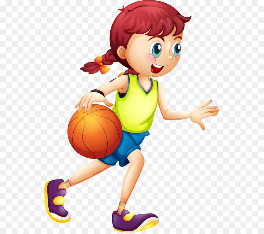 Women S Basketball Cartoon Sport Kids Cartoon Png