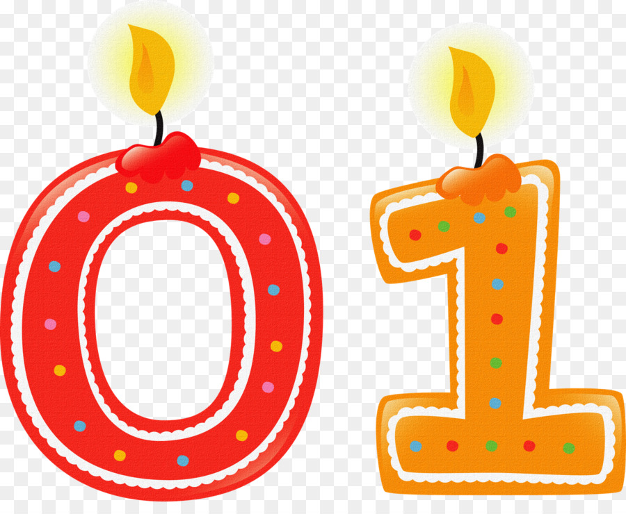 Number Birthday Candle Clip Art