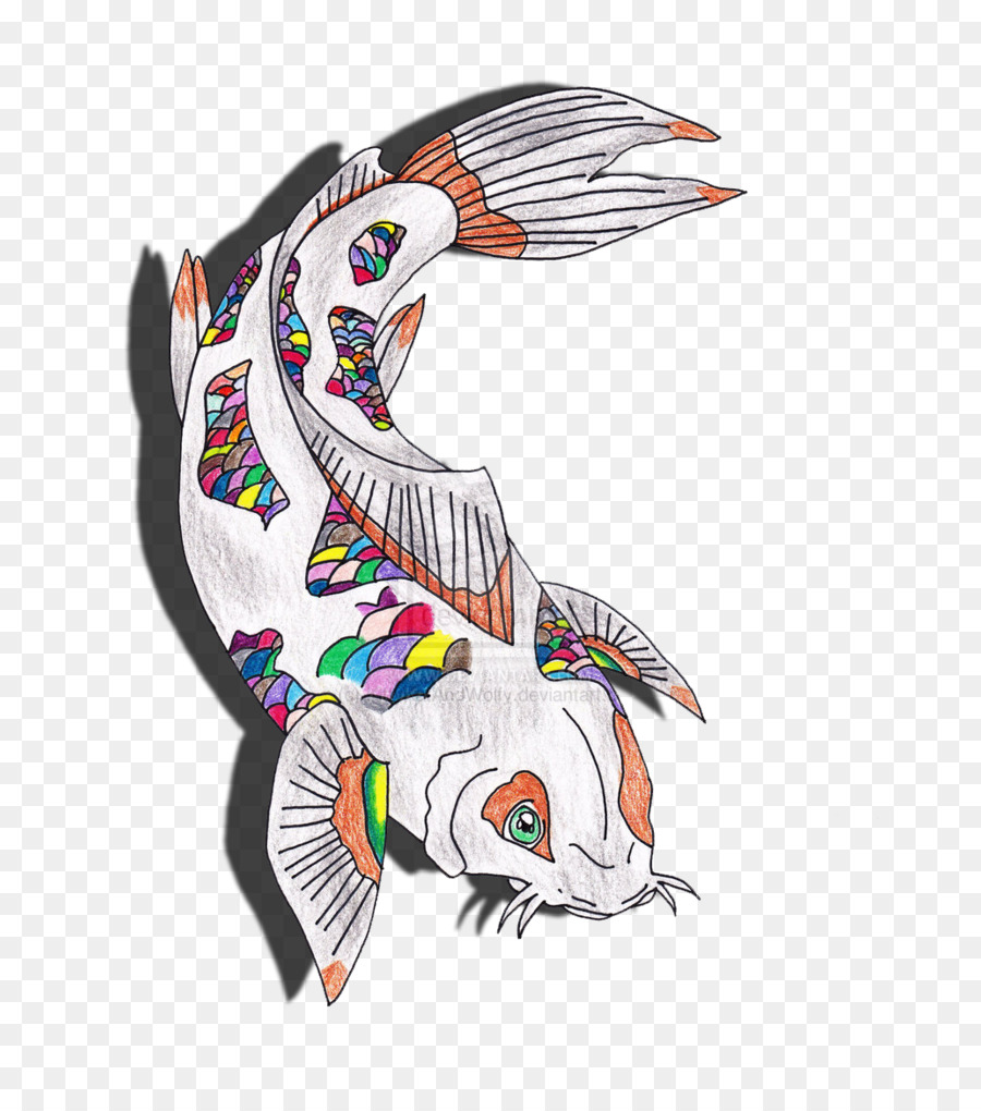 4a57641871341 Butterfly Koi Drawing Fish DeviantArt - koi png download - 784*1018 ...