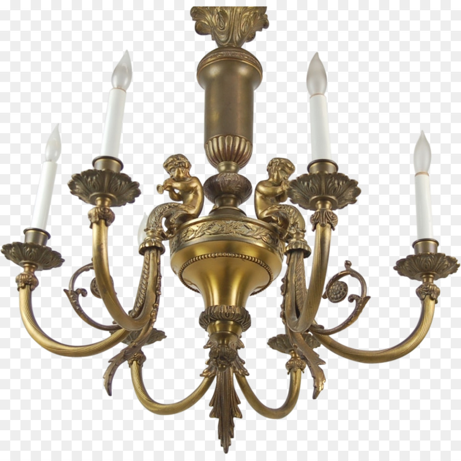 Chandelier Lighting Brass Light fixture Antique - Brass - Chandelier Lighting Brass Light Fixture Antique - Brass Png Download