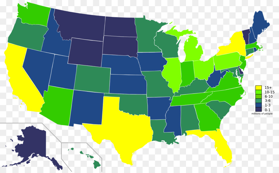 United States Presidential Election 2012 Us Presidential Election - Us-population-by-state-map
