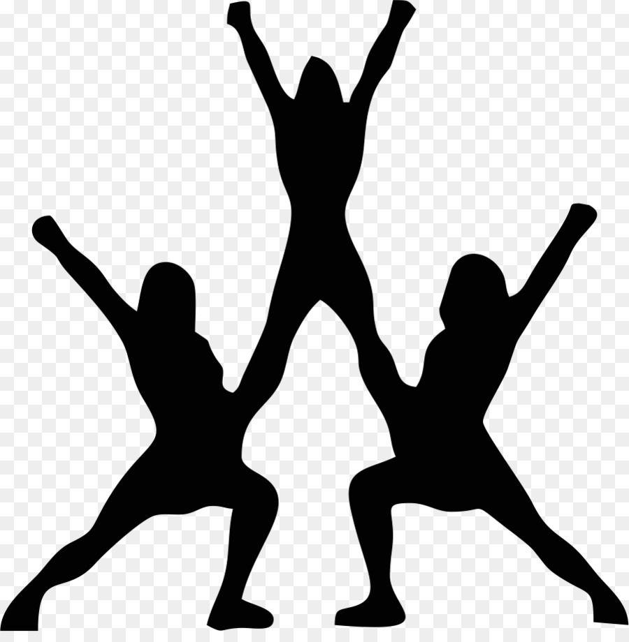 cheerleading silhouette stunt clip art cheerleader png download rh kisspng com clipart of cheerleader jumping clipart of cheerleader dress