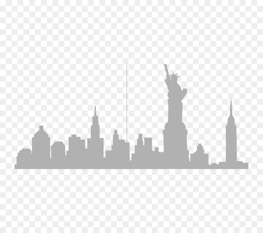 new york city skyline silhouette wall decal clip art city