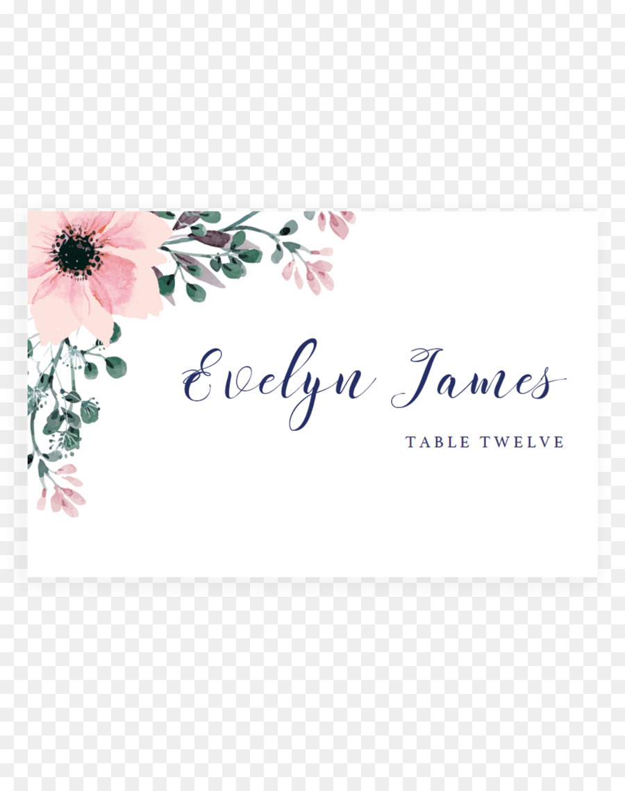 Wedding invitation Flower Place Cards Greeting & Note Cards ...