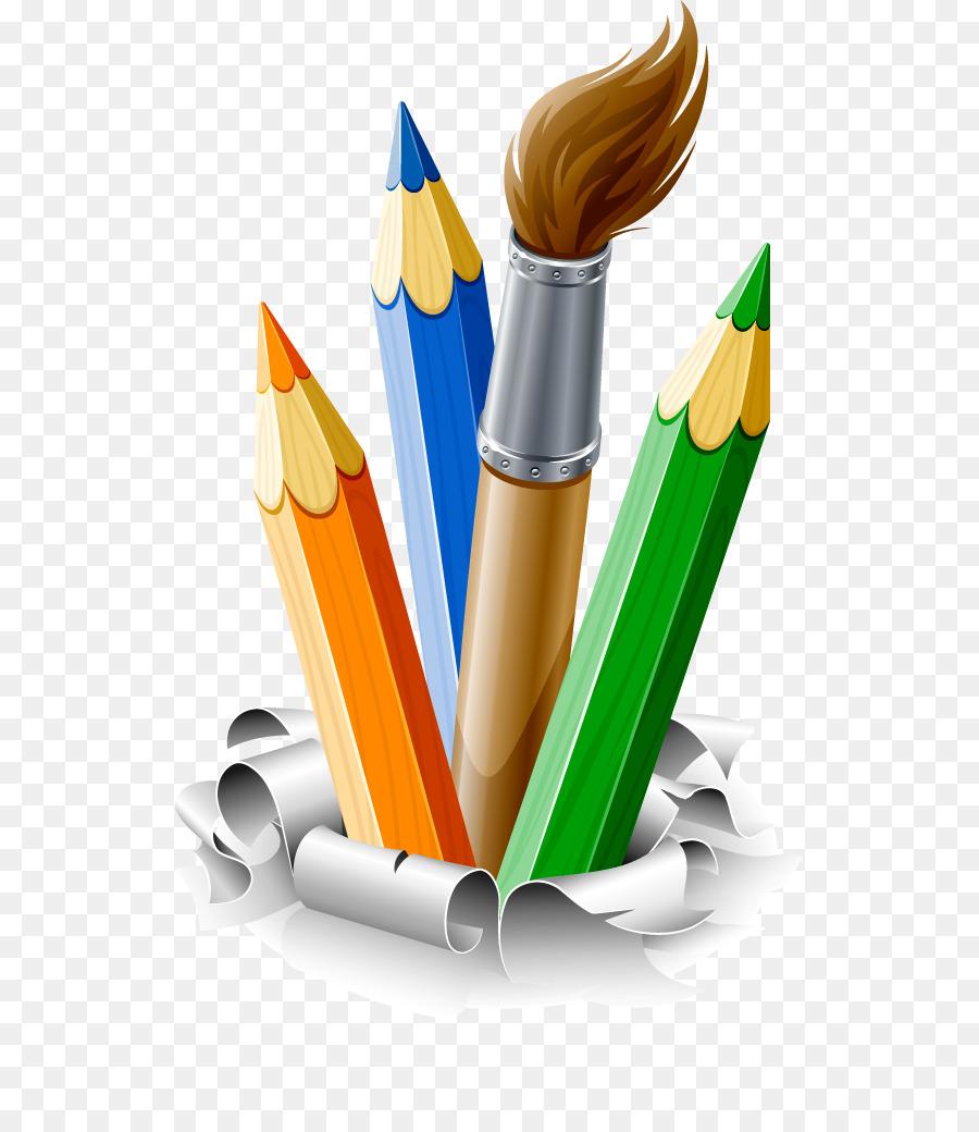 Pencil drawing brush paint brush paint