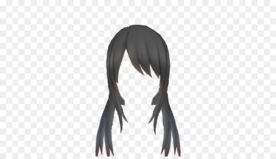 Yandere Simulator Long Hair Black Hair Wig