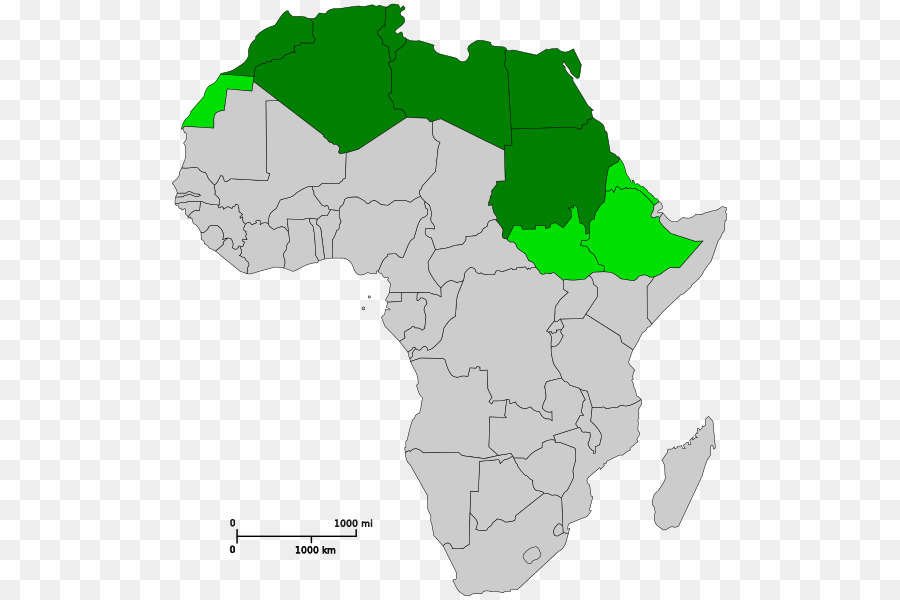 North Africa West Africa Central Africa Map - Africa png download ...