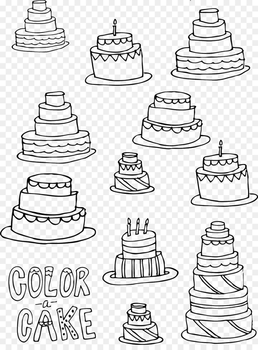 Kue Pernikahan Kue Ulang Tahun Gambar Cupcake Bundt Cake Mewarnai