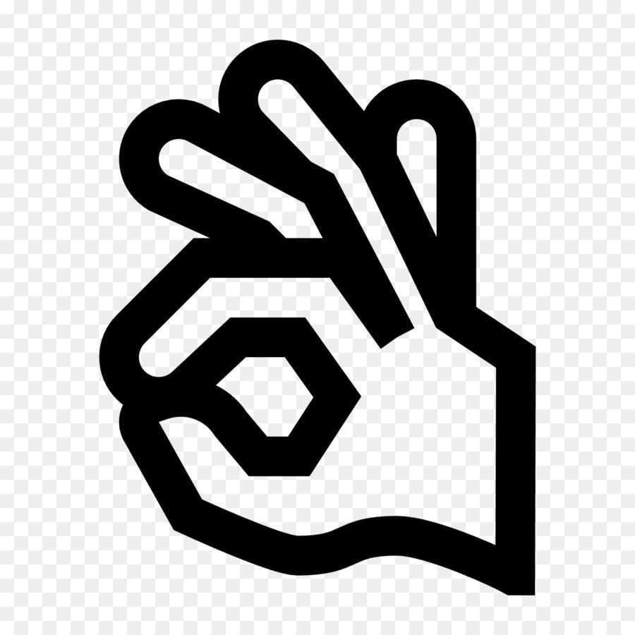Computer Icons Symbol Ok Hand Index Finger Ok Png Download 1600