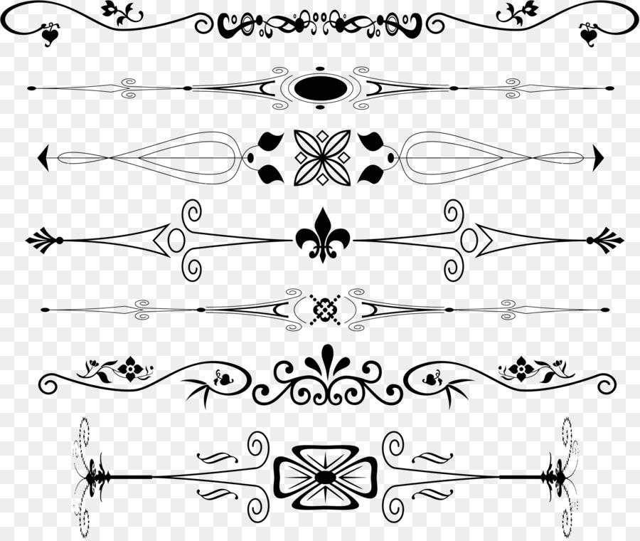 Ornamento de texto sin formato de artes Decorativas - divisor ...