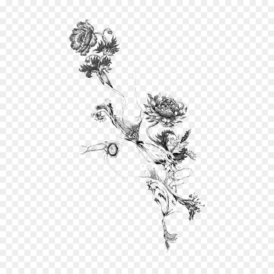 Tattoo Display Resolution Clip Art Flower Black Png Download