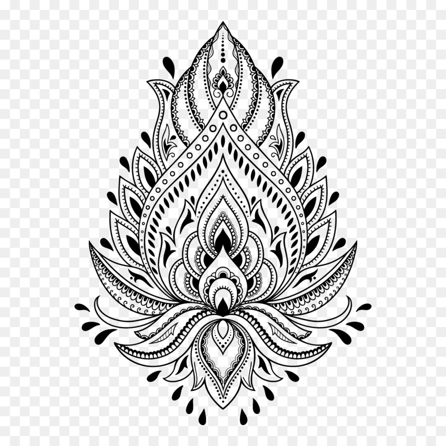 Tato Henna Mehndi Template Stensil Henna Unduh Seni Visual