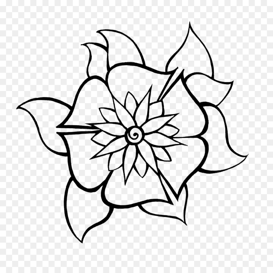 Drawing Line Art Flower Visual Arts Henna Png Download 894 894