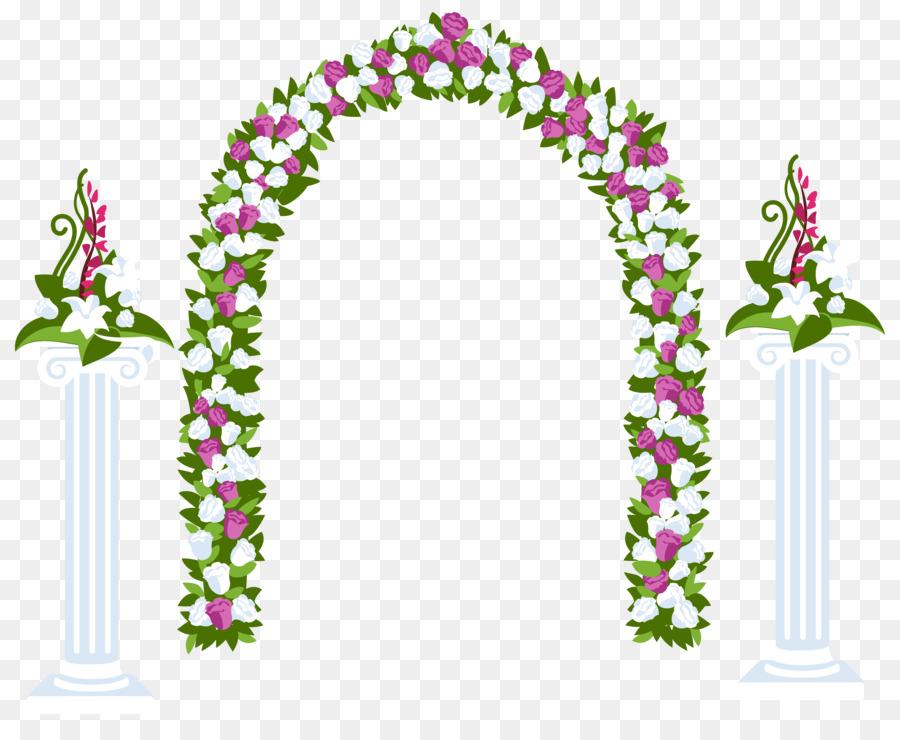 arch flower clip art wedding floral png download 6193 4997
