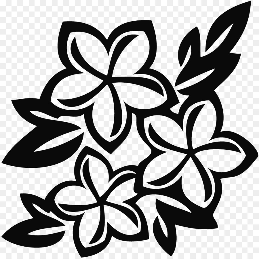 Flower White Floral Design Clip Art Flower Black Png Download