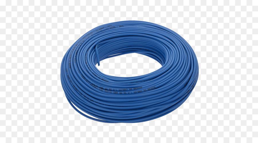 Electrical cable Electrical Wires & Cable Electricity Blue - wire ...