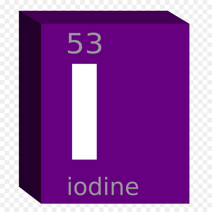 Symbol Periodic Table Iodine Block Chemical Element Chemistry Png
