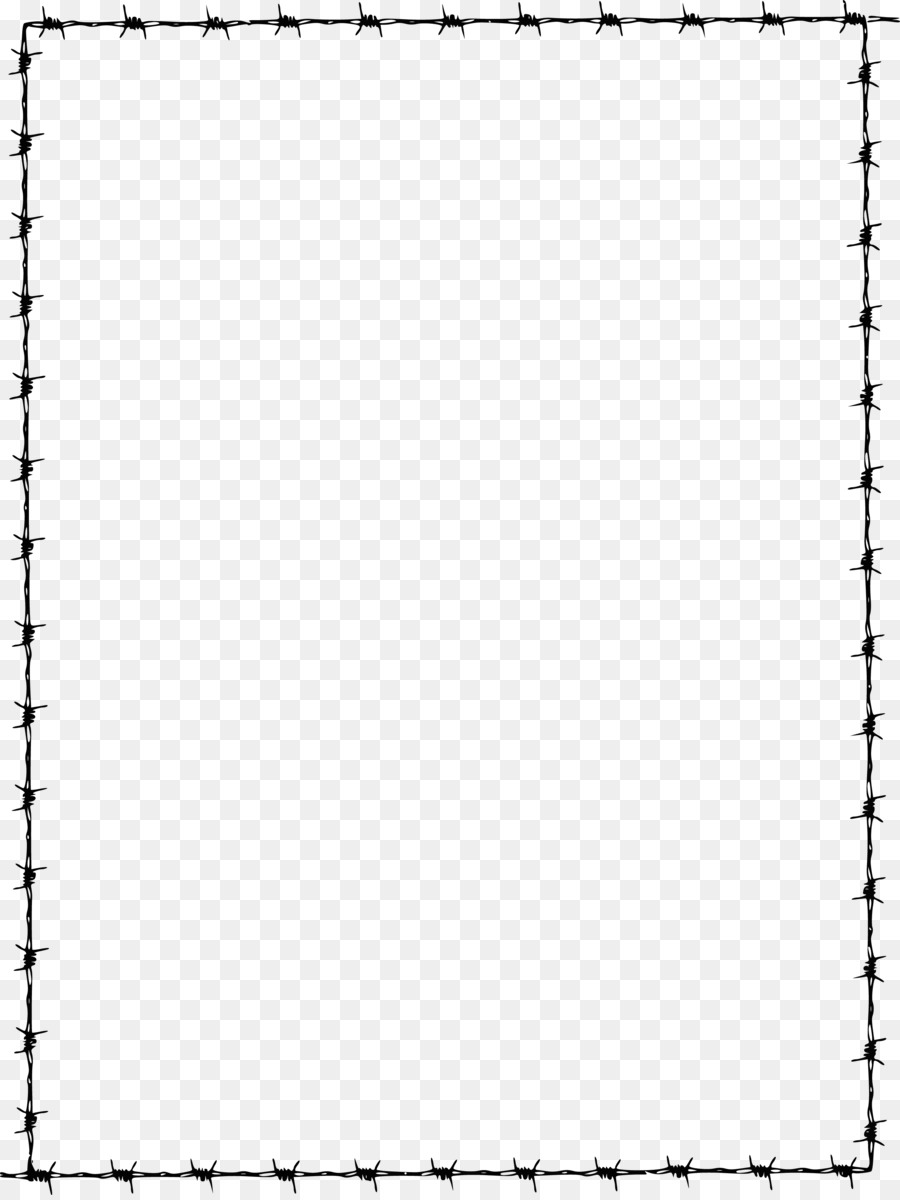 Barbed wire Clip art - page border png download - 2679*3556 - Free ...