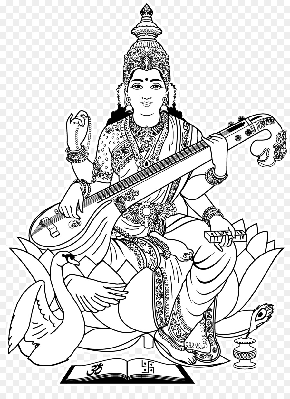 Shiva, Ganesha Saraswati Dibujo para Colorear libro - Sarawati ...