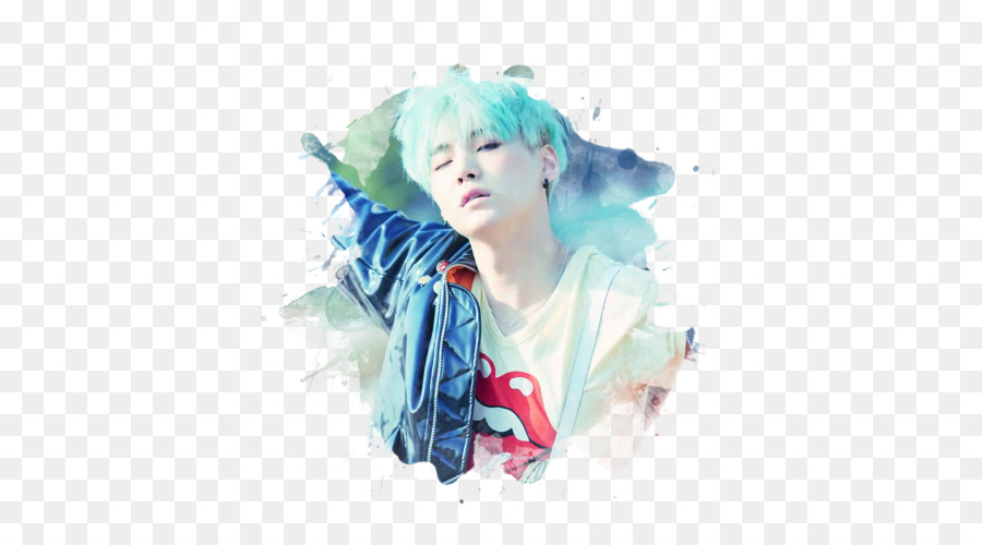 Suga South Korea Bts Desktop Wallpaper Watercolor Cute Png