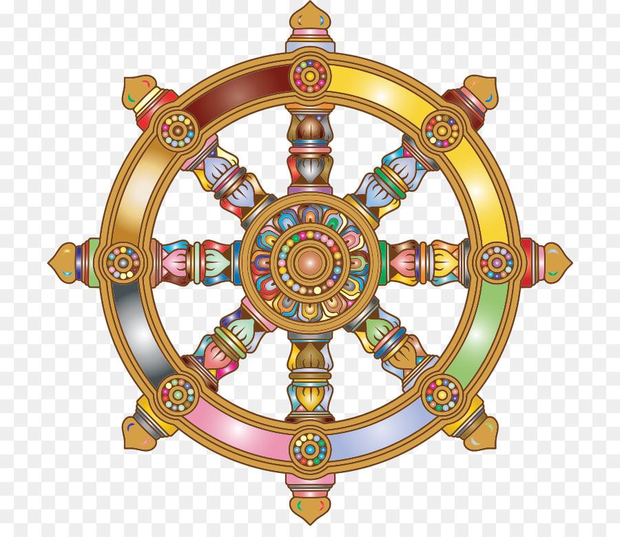 Dharmachakra Buddhism Buddhist Symbolism Clip Art Wheel Of Dharma